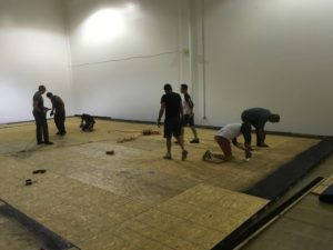Rebuilding our practice floor.